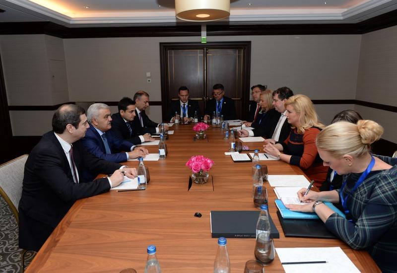 Ровнаг Абдуллаев на переговорах с Президентом Хорватии