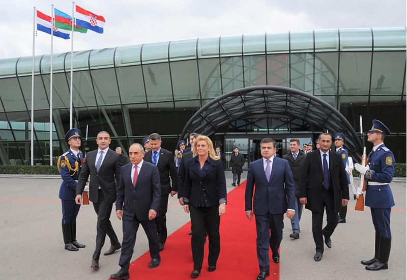 """Завершился официальный визит Президента Хорватии в Азербайджан <span class=""""color_red"""">- ФОТО</span>"""
