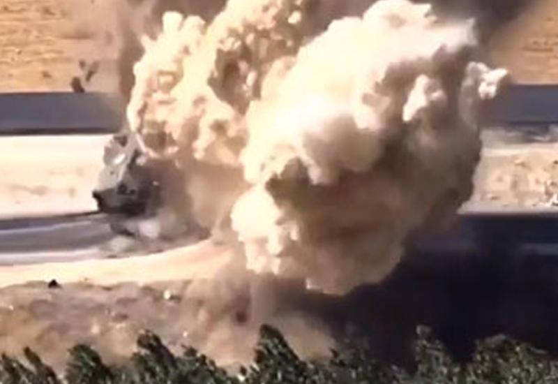 "Террористы уничтожили турецкий автомобиль в Сирии <span class=""color_red"">- ВИДЕО</span>"