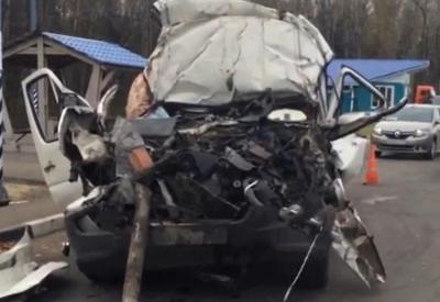 """В Подмосковье в ДТП с микроавтобусом погибли 7 человек <span class=""""color_red"""">- ВИДЕО</span>"""
