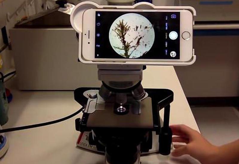 """Американские изобретатели скрестили iPhone и микроскоп <span class=""""color_red"""">- ВИДЕО</span>"""