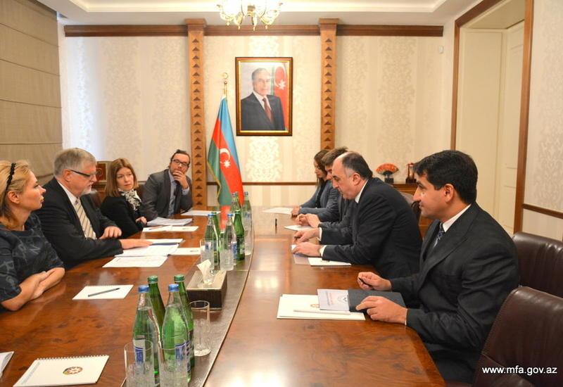 Эльмар Мамедъяров на переговорах со спецпредставителем ЕС