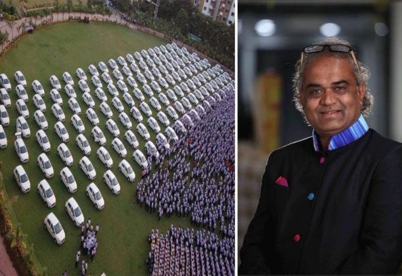 Индийский бизнесмен подарил своим сотрудникам 1260 автомобилей