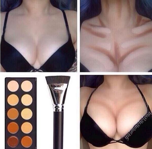 Как визуально сделать большую грудь