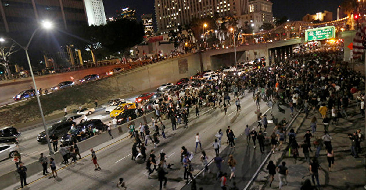 ВЛос-Анджелесе впроцессе протестов арестованы около 150 человек