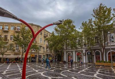 Дождь в Баку