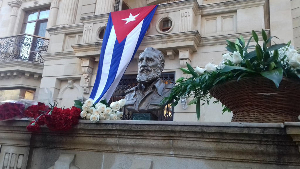 НаКубе прощаются сФиделем Кастро 04декабря 2016 07:44