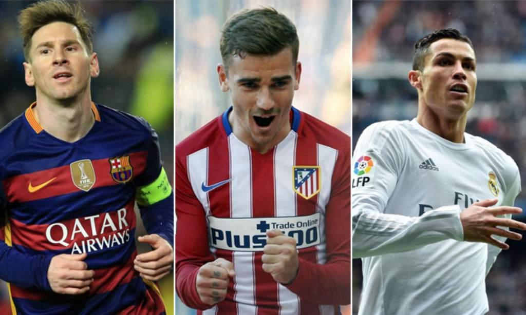 Роналду, Гризманн иМесси претендуют название лучшего футболиста года ФИФА