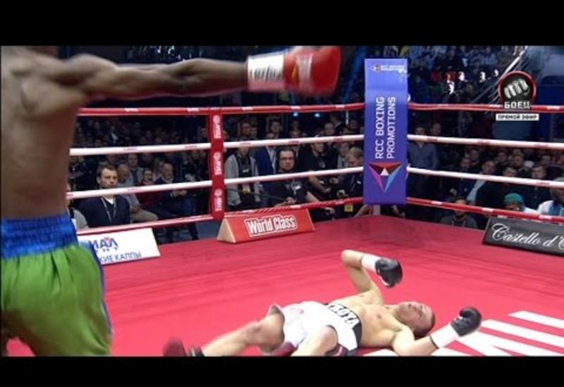 "Российский боксер проиграл два чемпионских пояса за 40 секунд <span class=""color_red"">- ВИДЕО </span>"