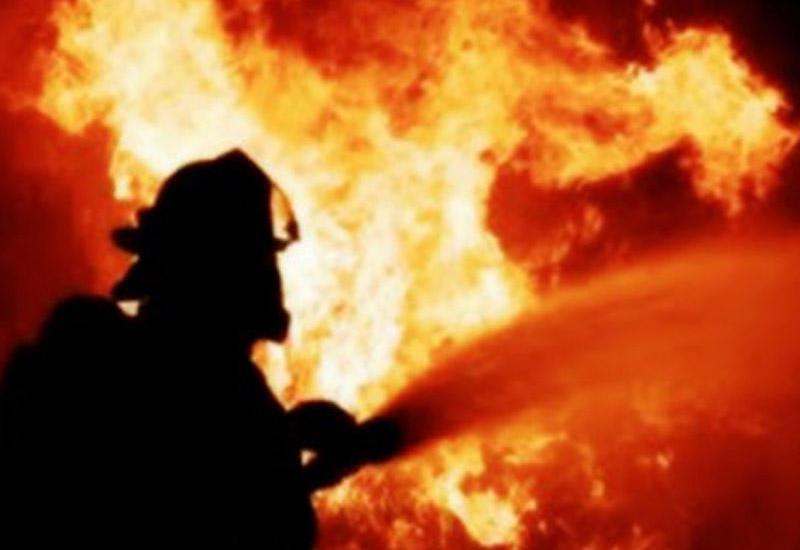 В Геранбое вспыхнул сильный пожар