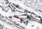 В США столкнулись 50 машин, есть пострадавшие