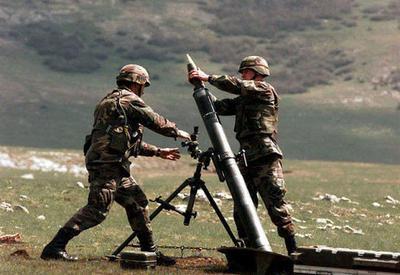 Армяне обстреляли азербайджанские позиции из минометов