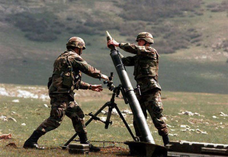 Армяне продолжают обстреливать из минометов позиции Азербайджана