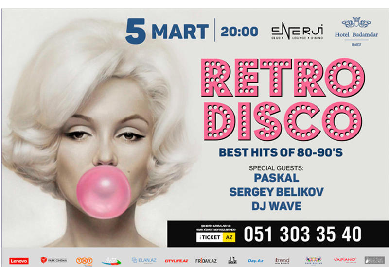 В Баку состоится дискотека 80-90-х