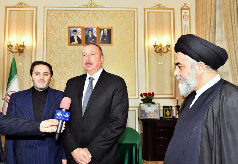 """Президент Ильхам Алиев: Я и впредь буду стараться развивать ирано-азербайджанские дружественные и братские связи <span class=""""color_red"""">- ФОТО</span>"""