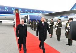 Президент Ильхам Алиев прибыл в Нахчыванскую Автономную Республику