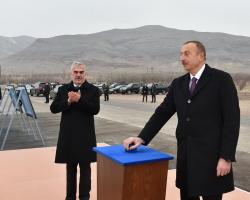 Президент Ильхам Алиев принял участие в церемонии закладки фундамента Ордубадской ГЭС