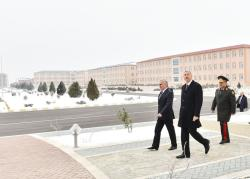 Президент Ильхам Алиев принял участие в открытии солдатской казармы в Нахчыване