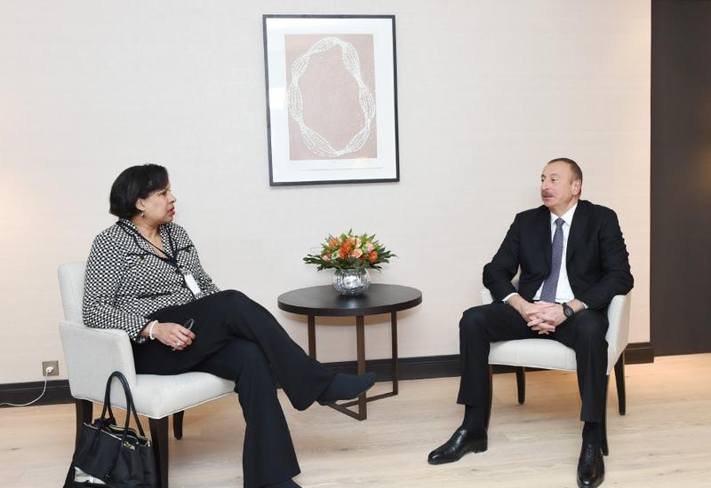 Президент Ильхам Алиев встретился в Давосе с корпоративным вице-президентом компании Microsoft