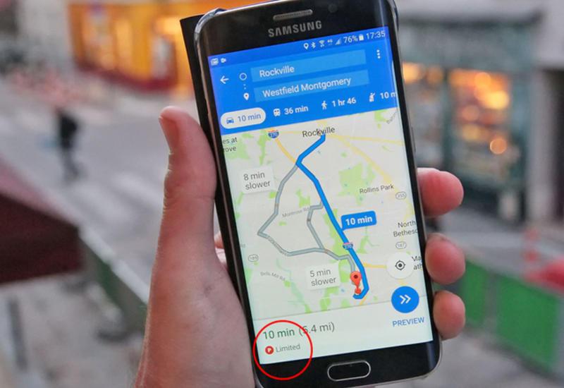 "Карты Google предупредят о проблемах с парковкой <span class=""color_red"">- ФОТО</span>"