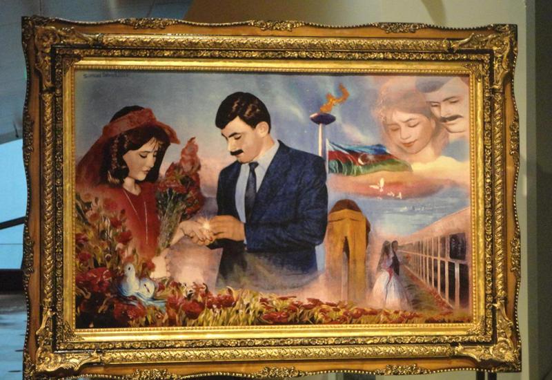 """В Баку представили ковер, посвященный шехидам Ильхаму и Фаризе Аллахвердиевым <span class=""""color_red"""">- ФОТО</span>"""