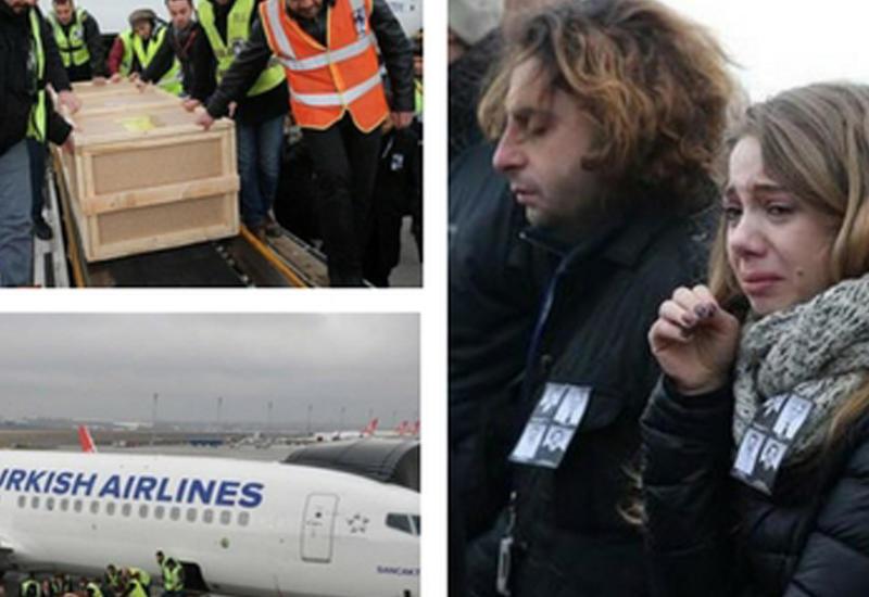 """Тела трех членов экипажа Boeing доставлены из Бишкека в Стамбул <span class=""""color_red"""">- ФОТО - ВИДЕО</span>"""