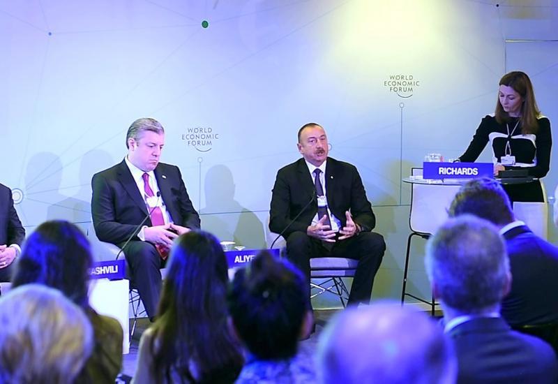 """Президент Ильхам Алиев: В ближайшие два года проект """"Север-Юг"""" будет интегрирован в Шелковый путь <span class=""""color_red"""">- ФОТО</span>"""