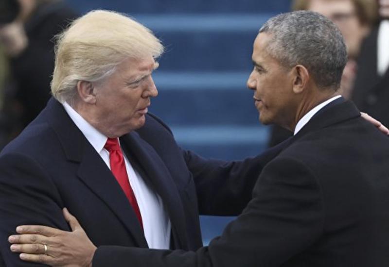 Обама покинул Капитолий после инаугурации Трампа
