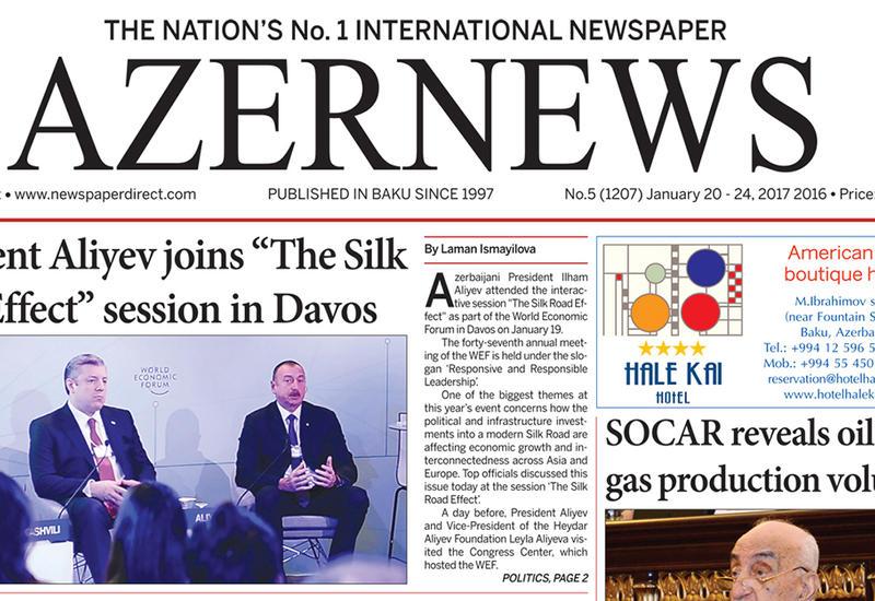 "Вышла очередная печатная версия онлайн-газеты AzerNews <span class=""color_red"">- ФОТО</span>"
