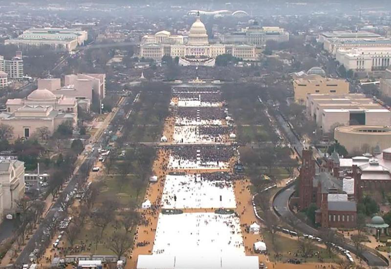 В Вашингтоне после присяги Трампа снова начался дождь