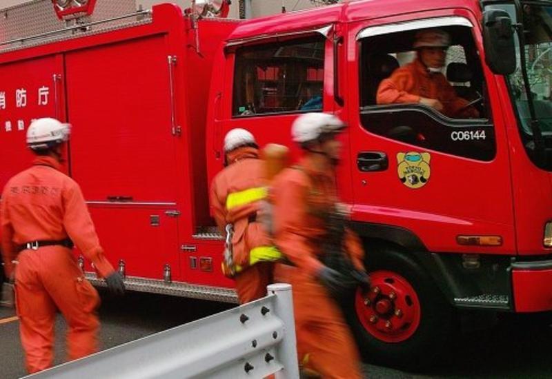Крупный пожар на японском заводе