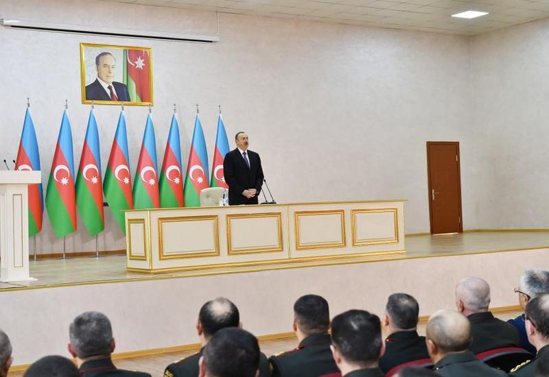 Президент Ильхам Алиев: Приобретенная у разных стран самая современная военная техника может уничтожить любую цель врага