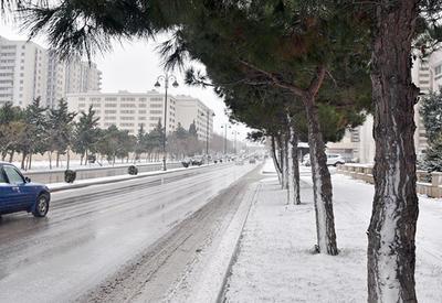 Синоптики о снежной погоде в Баку
