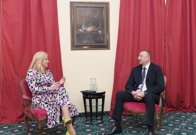 """Президент Ильхам Алиев приглашен с визитом в Хорватию <span class=""""color_red"""">- ФОТО</span>"""