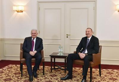 """Президент Ильхам Алиев встретился в Мюнхене с премьер-министром Турции Бинали Йылдырымом <span class=""""color_red"""">- ФОТО</span>"""