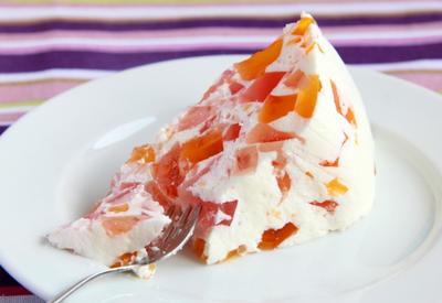 Желейный торт со сметаной - Пошаговый рецепт