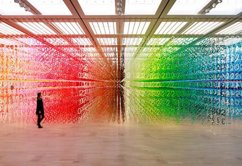 """Французский архитектор трансформировал выставочное пространство в лес из цифр <span class=""""color_red"""">- ФОТО</span>"""