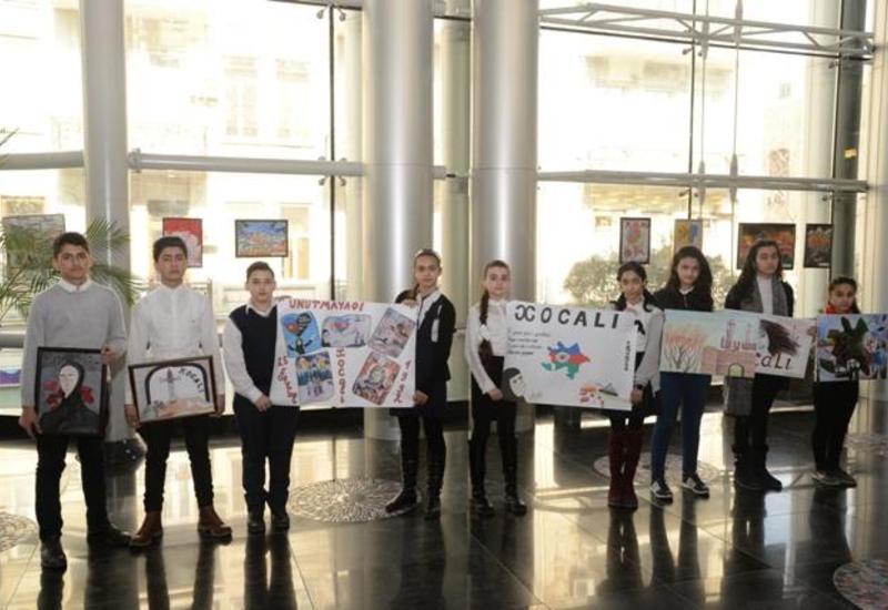 """Ходжалинский геноцид в рисунках детей <span class=""""color_red"""">- ФОТО</span>"""