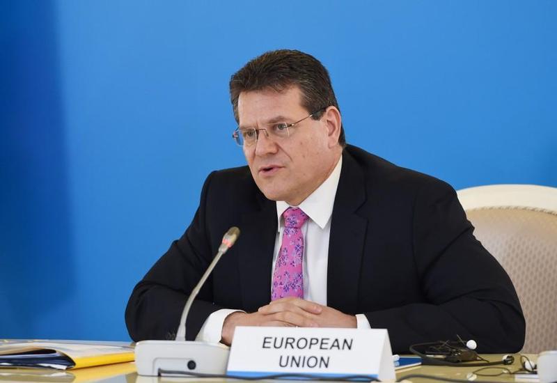 """Марош Шефчович: """"Южный газовый коридор"""" имеет стратегическую важность для будущей энергобезопасности Европы"""