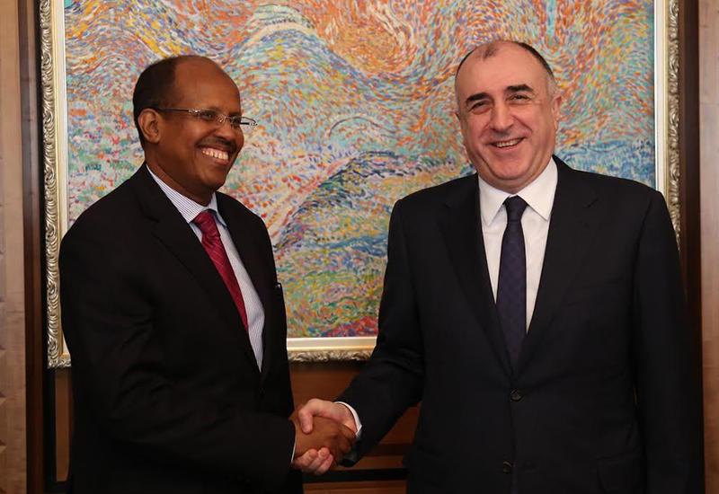 Мамедъяров на переговорах с главой МИД Джибути