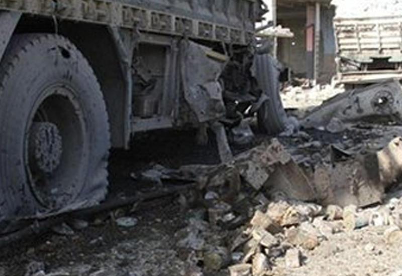 """Yük maşını daş hasara çırpıldı, sürücü öldü <span class=""""color_red"""">- YENİLƏNİB</span>"""