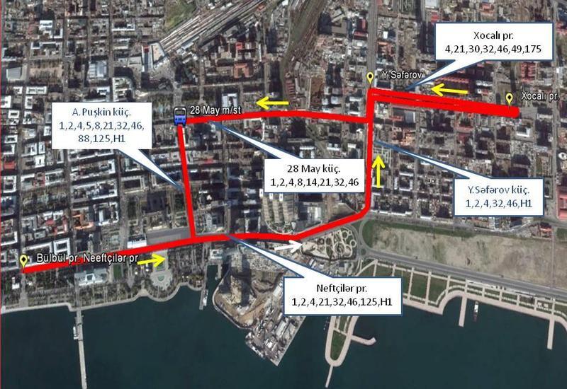 """В Баку изменят ряд автобусных маршрутов <span class=""""color_red"""">- СХЕМЫ</span>"""
