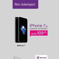iPhone 7 без предоплаты всего за 109 AZN