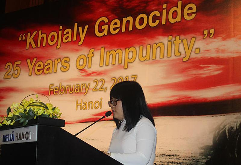 Вьетнамская студентка: Серж Саргсян, как организатор геноцида в Ходжалы, должен сидеть в тюрьме