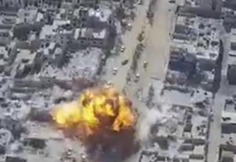 """Момент взрыва в сирийском Эль-Бабе сняли с беспилотника <span class=""""color_red"""">- ВИДЕО</span>"""