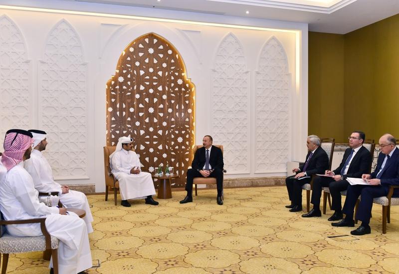 Президент Ильхам Алиев встретился с исполнительным директором Qatar Petroleum