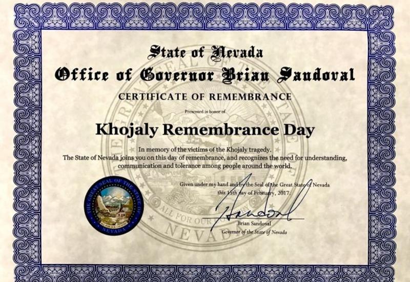 """Еще один американский штат признал Ходжалинский геноцид <span class=""""color_red"""">- ФОТО</span>"""