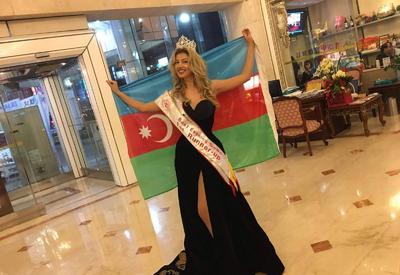 """Азербайджанская модель стала второй на международном конкурсе красоты <span class=""""color_red"""">- ФОТО</span>"""