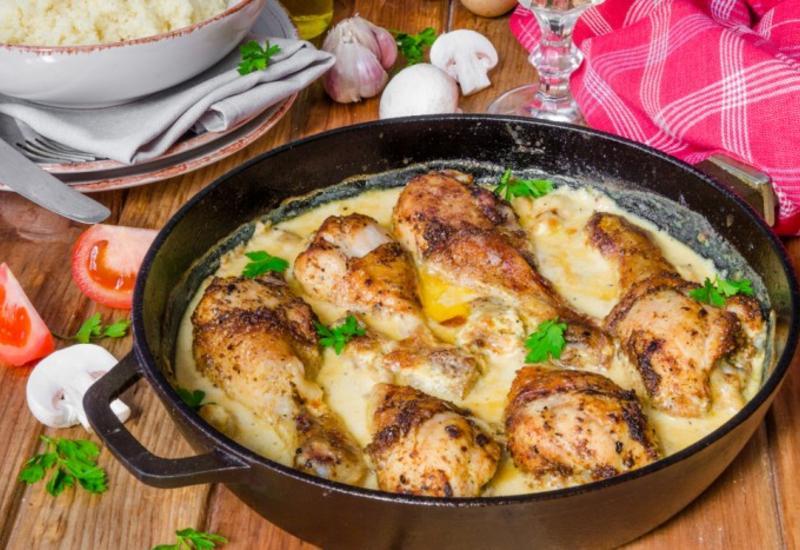 Куриные ножки в горчично-сливочном соусе - Пошаговый рецепт