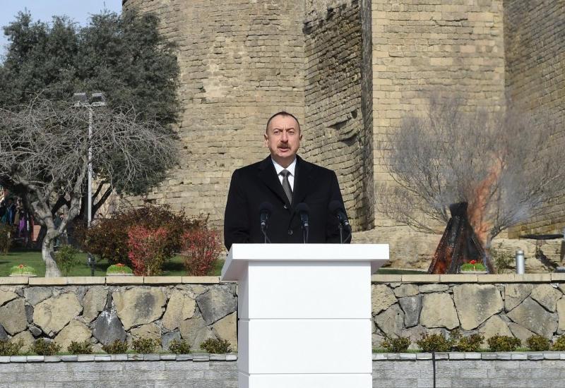 """Президент Ильхам Алиев: """"Сегодня азербайджанский флаг развевается в Лелетепе и Агдере, он будет развеваться и в Шуше, и в Ханкенди"""""""